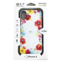 【スマホ雑貨】<br>IIIIfit Premium iPhoneXS/X FULL DISPLAY MODEL対応ケース(レッド) [849339]